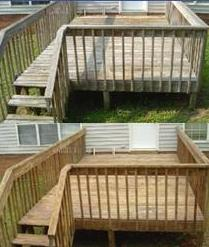 Deck Cleaning Befor and After